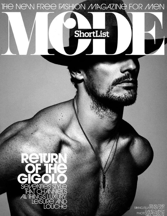 david gandy en couverture du 1er num ro de shortlist mode essential homme. Black Bedroom Furniture Sets. Home Design Ideas