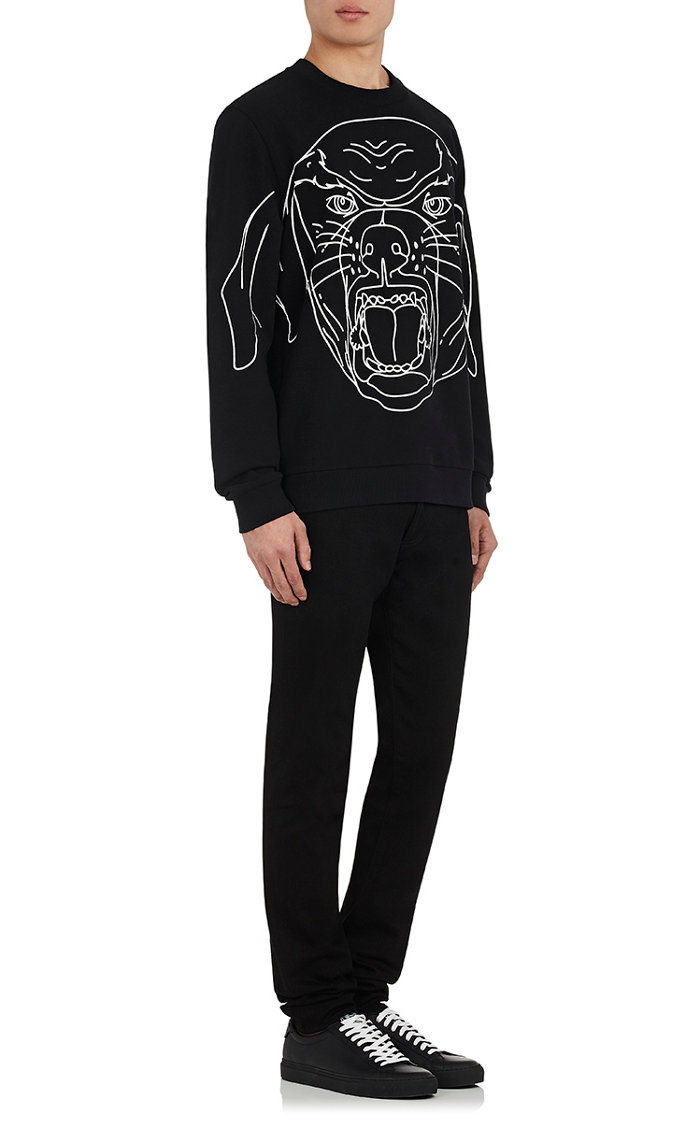 Givenchy Stenciled-Rottweiler Cotton Sweatshirt
