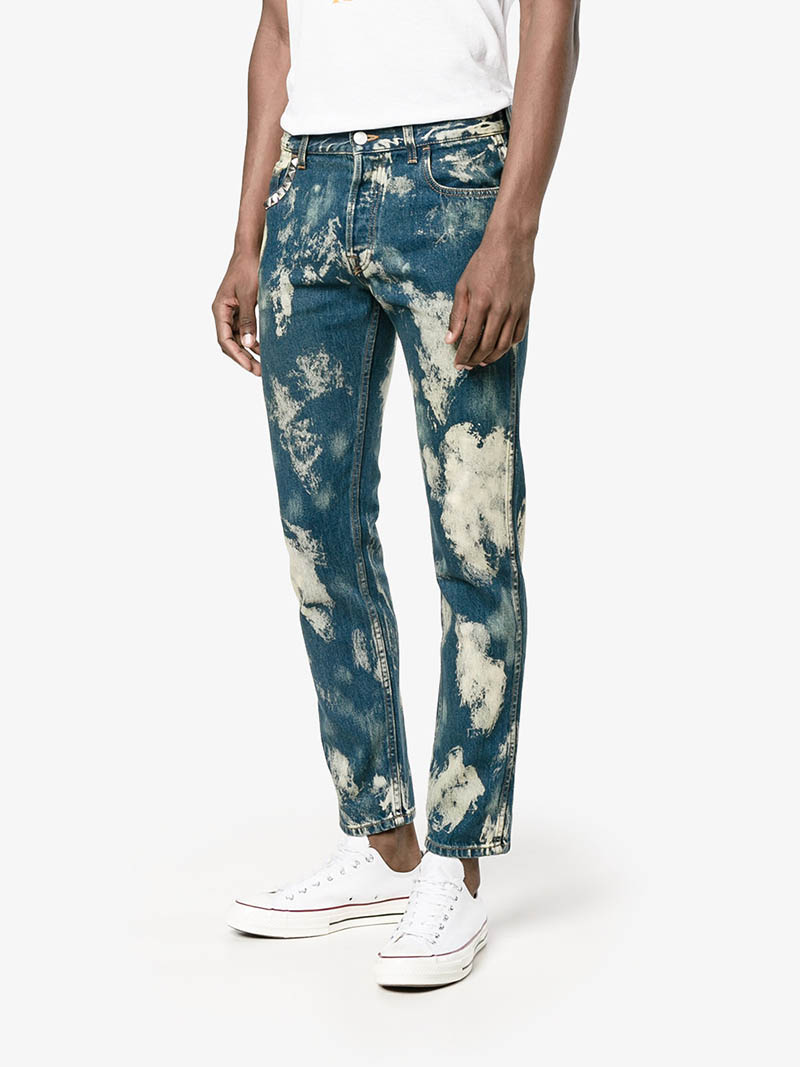 Gucci Bleached Denim Punk Pants