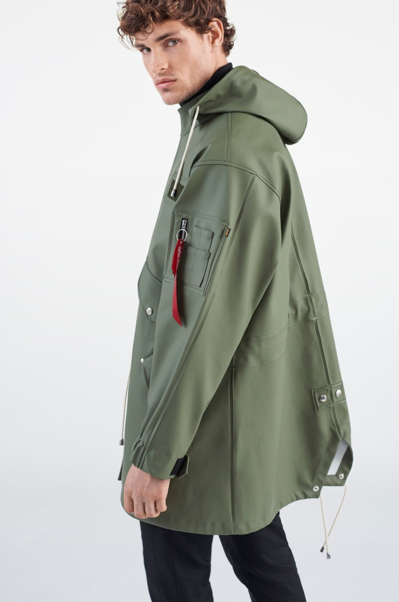 Stutterheim x Alpha Industries M-65 Fishtail Sage