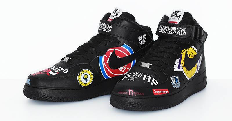 Collection Logos Supreme X Nike X NBA