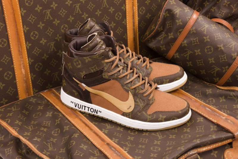 Air Jordan 1 Off-White x Louis Vuitton Custom