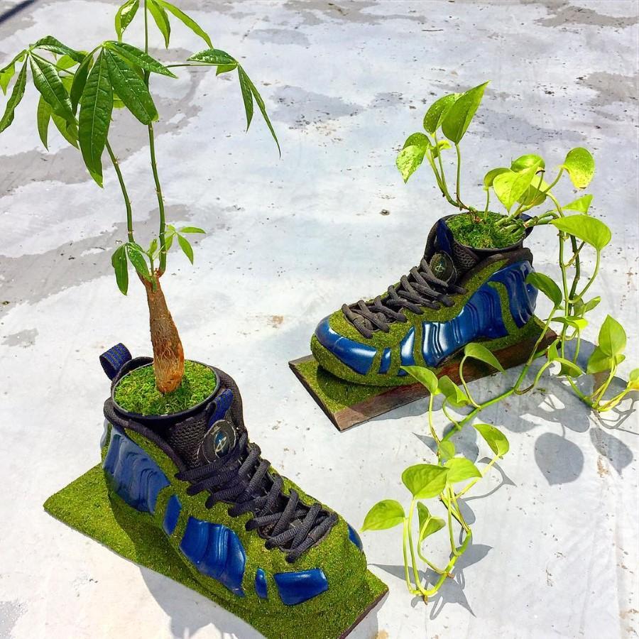 Kosuke Sugimoto - Baskets Jardinières Nike Air Foamposite One 1997