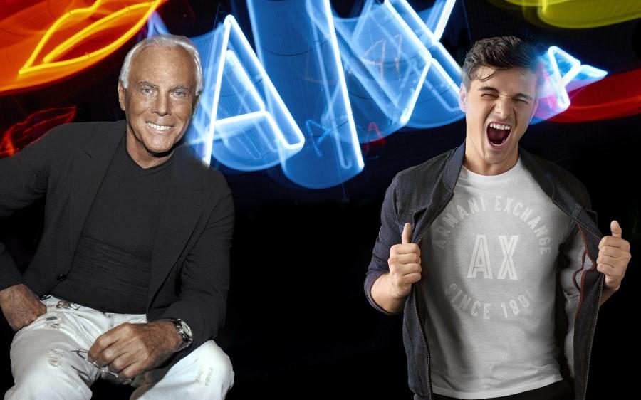 AX Armani Exchange Automne-Hiver 2018-19 - GIORGIO ARMANI & MARTIN GARRIX