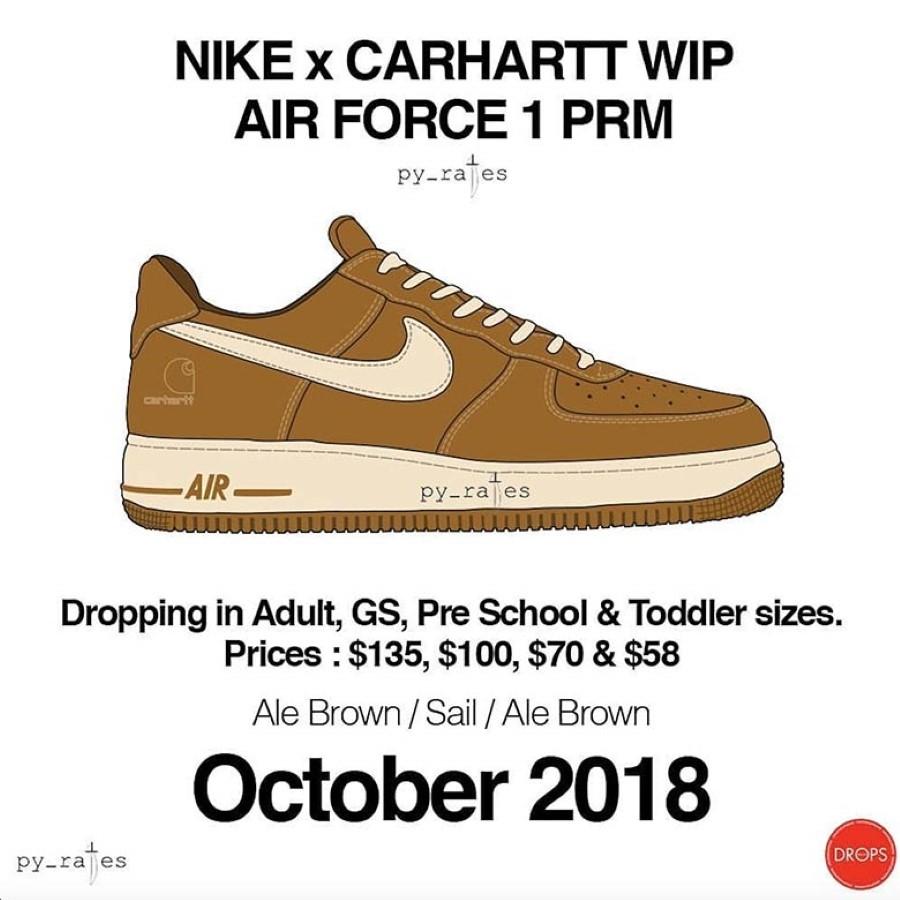 Un Nouveau Pack Carhartt WIP & Nike Air Force 1 Débarquera