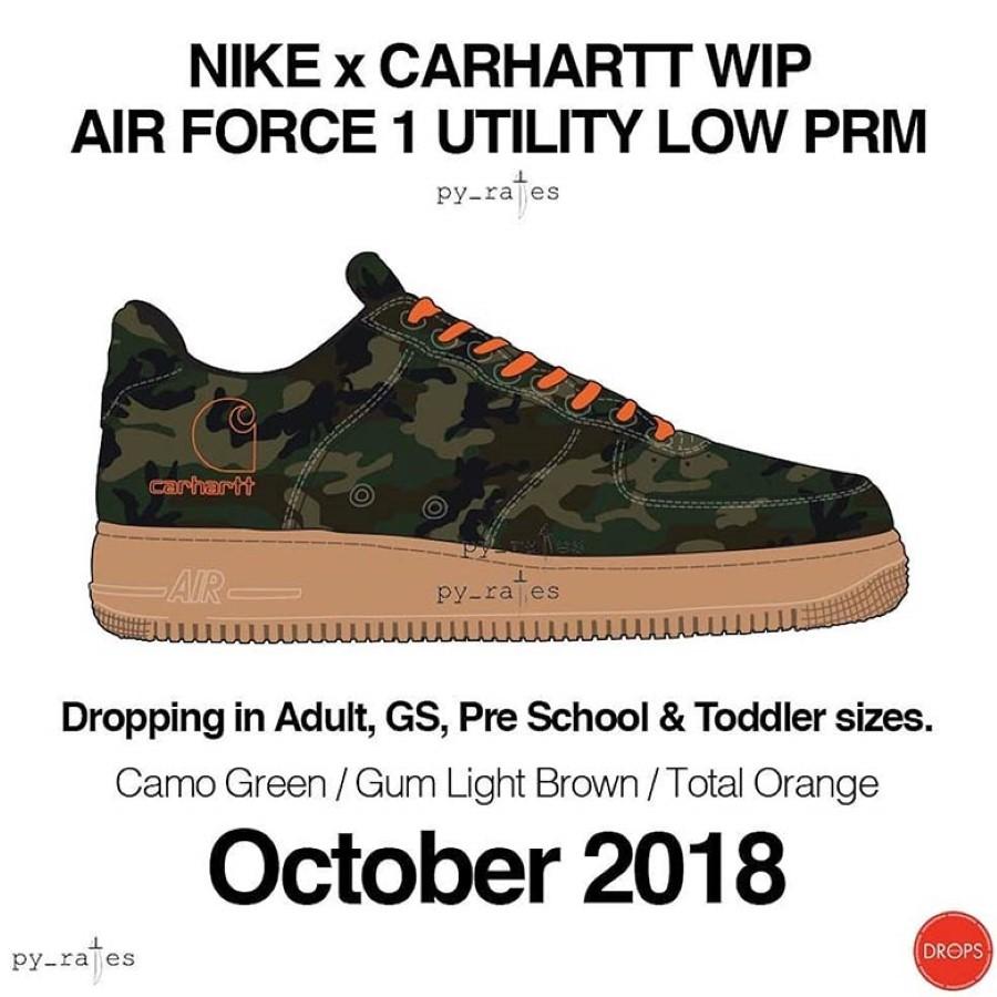 Carhartt WIP & Nike Air Force 1