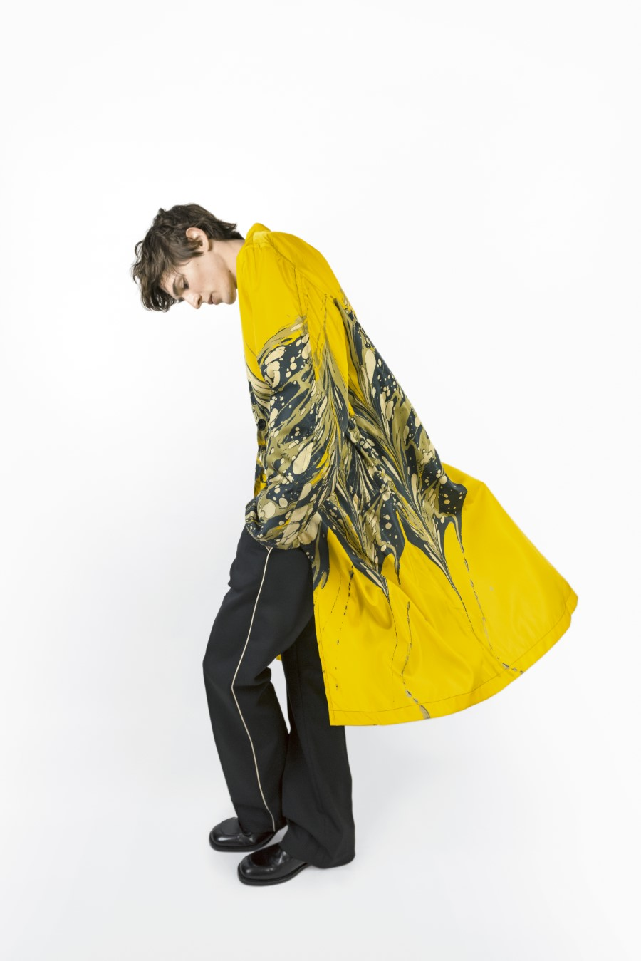 Dries Van Noten Limited edition marble print raincoats