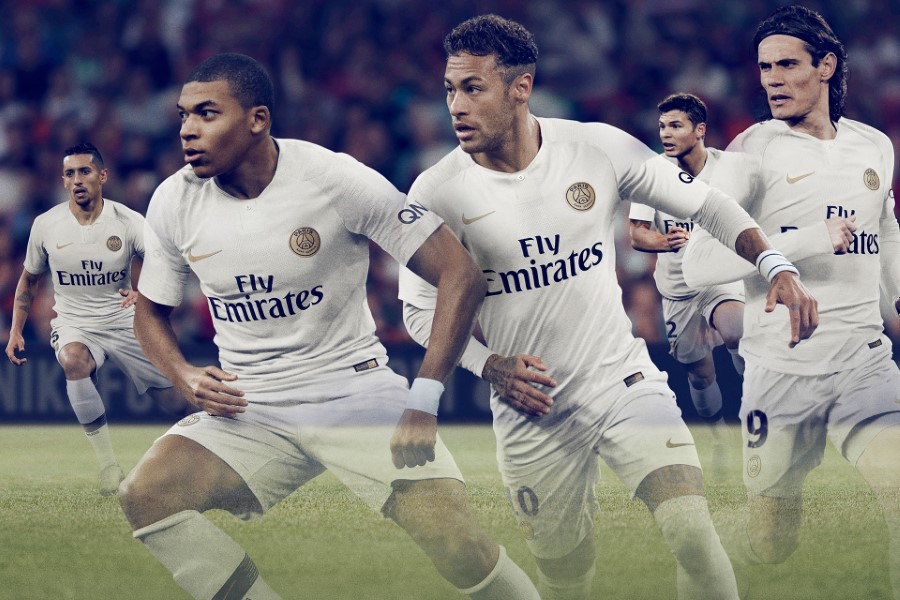 Nike Football - Paris Saint Germain Tenue extérieure Saison 2018-19