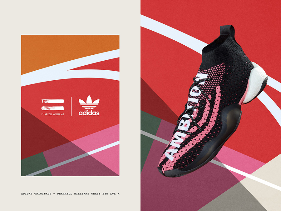 Pharrell x adidas Crazy BYW Ambition Pink Pack
