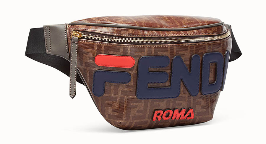 le must have de la rentr e 2018 le sac banane fendi x fila essential homme. Black Bedroom Furniture Sets. Home Design Ideas