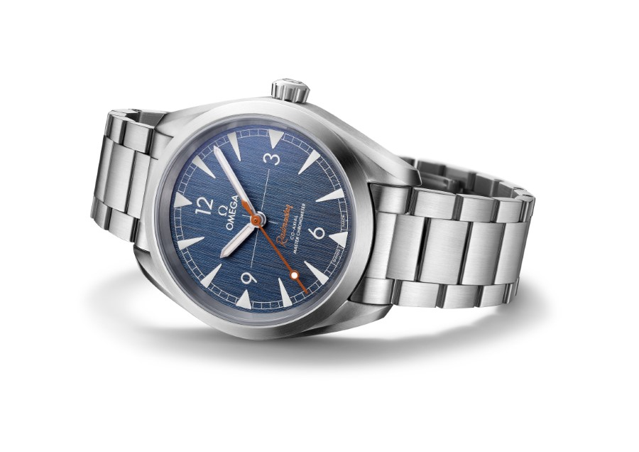 OMEGA Railmaster Blue Denim