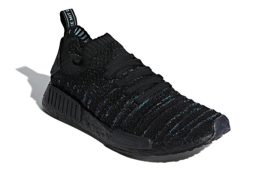 Parley x adidas NMD_R1 Core Black-Blue Spirit