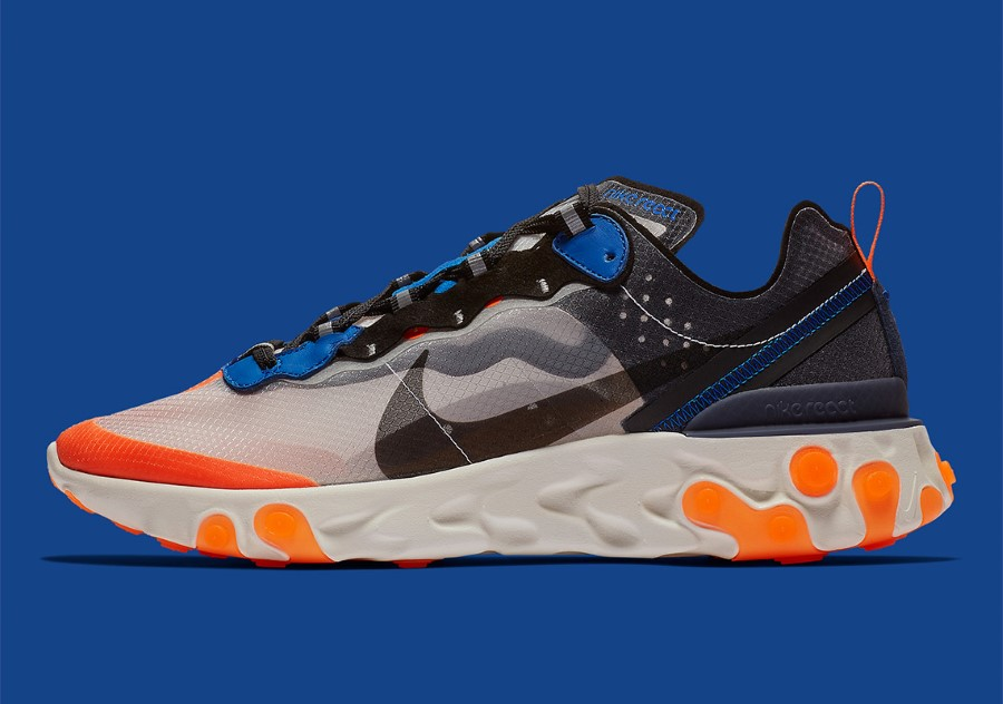 Nike React Element 87 Thunder Blue Orange