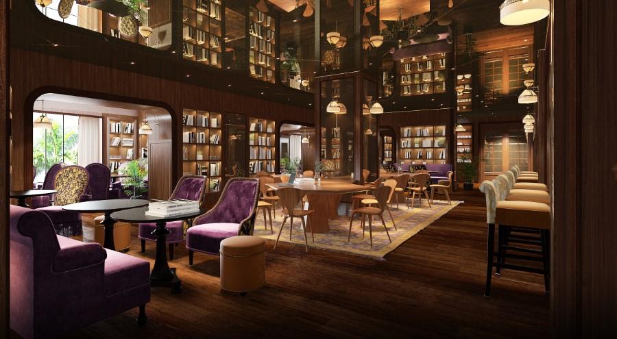 Six Senses Maxwell - Singapour - Restaurant bibliothèque Cook & Tras