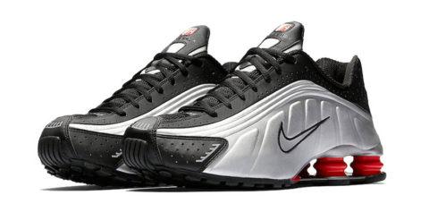 Nike Shox R4 Black Metallic Silver