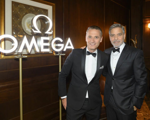 Président et CEO de OMEGA, Raynald Aeschlimann & George Clooney
