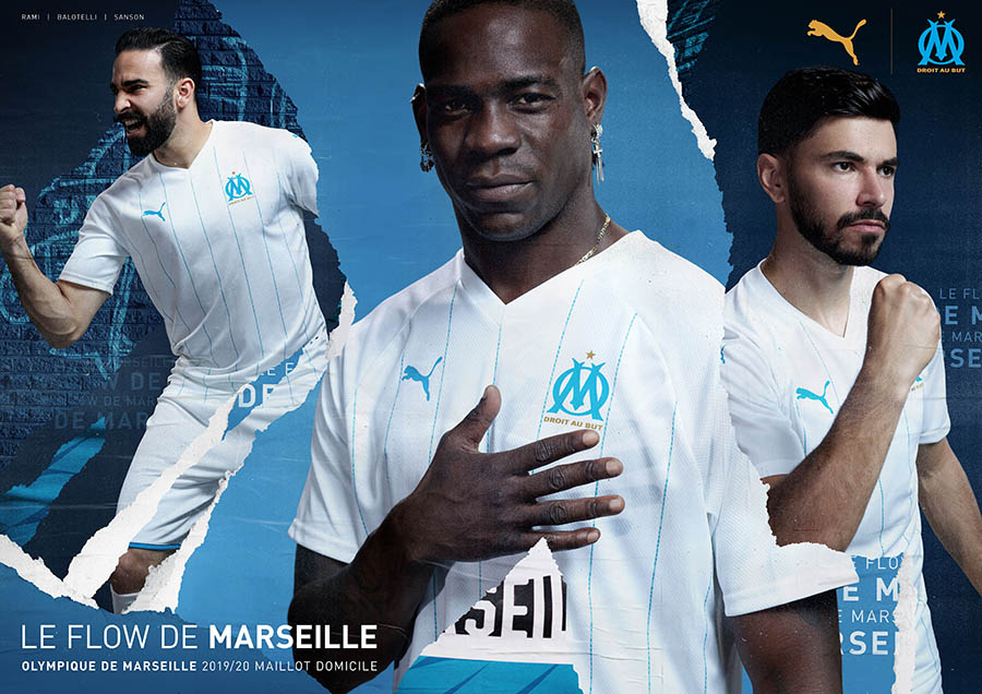 PUMA Football x Olympique de Marseille - Kit domicile 2019-2020