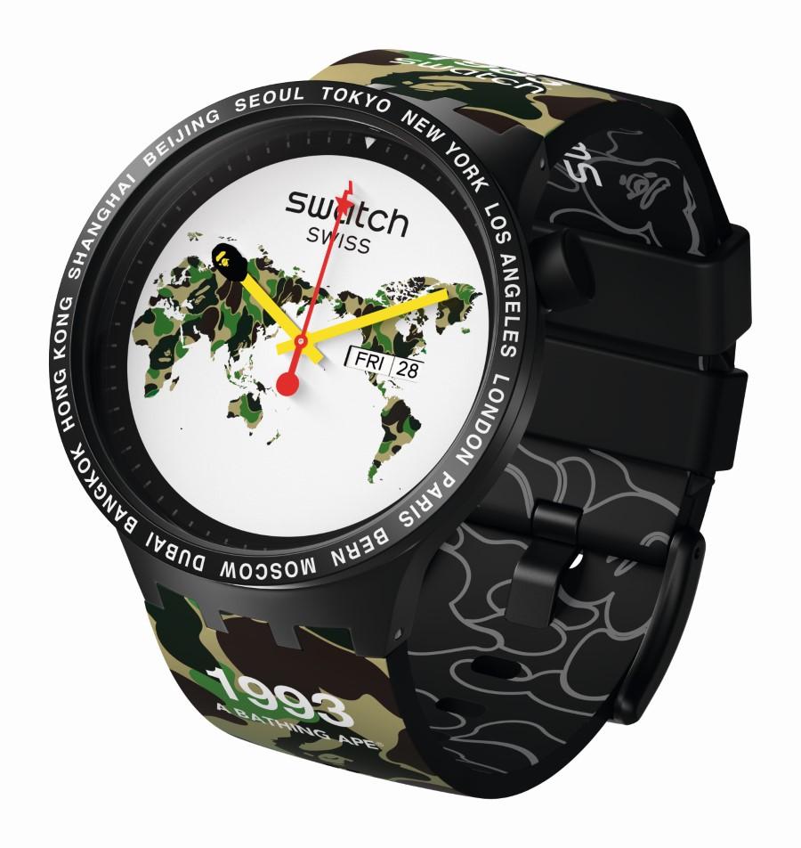 Swatch x BIG BOLD BAPE The World