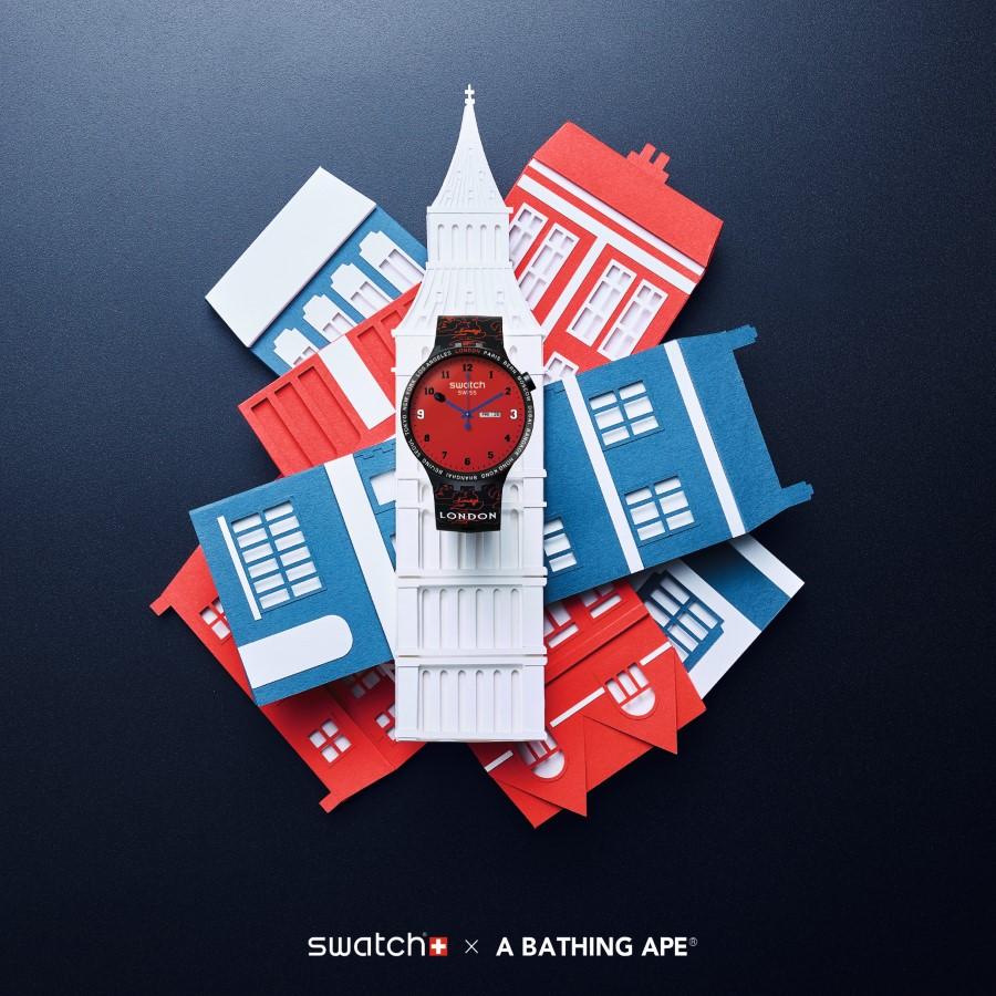Swatch x Bape Cities London