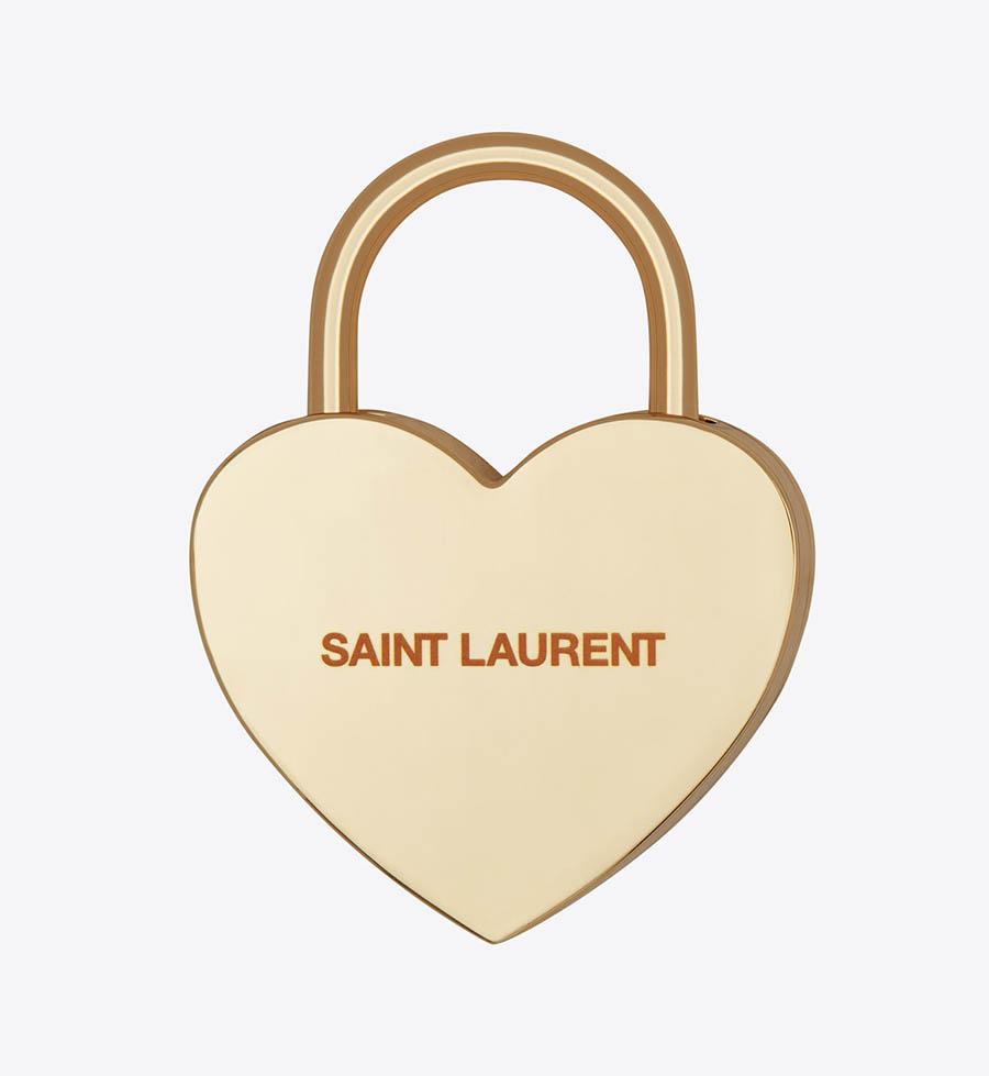 Saint Laurent Rive Droite Collection goodies 006 - Cadenas Cœur Doré