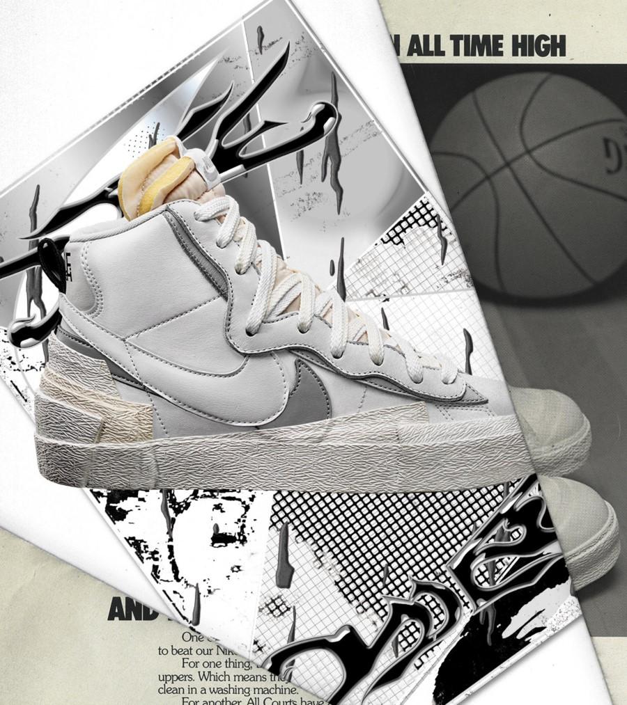 Sacai x Nike Running Blazer 1