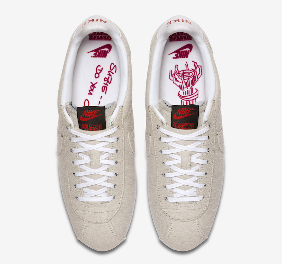 Stranger Things x Nike Cortez Upside down