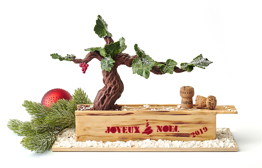 Bûches de Noël 2019 - The Peninsula Paris - Bûche Vigne Enchantée