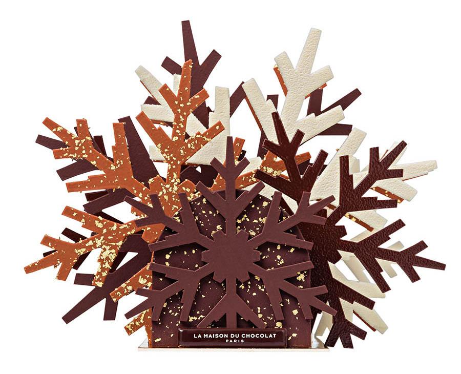Bûches de Noël 2019 - La Maison du Chocolat - Bûche Etoile de neige