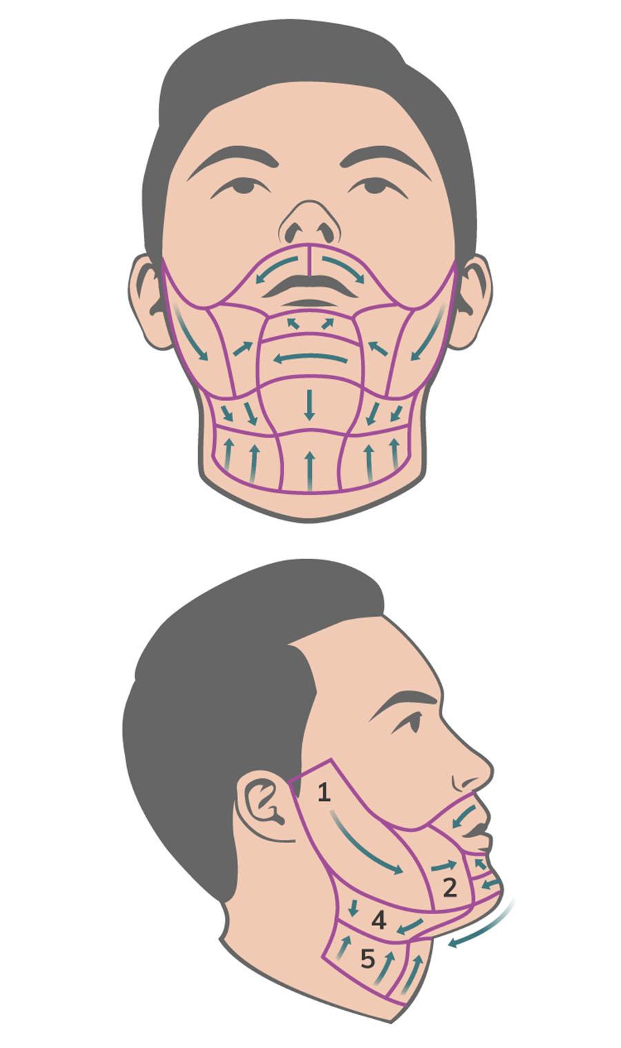 L'art de se raser - Shave Map