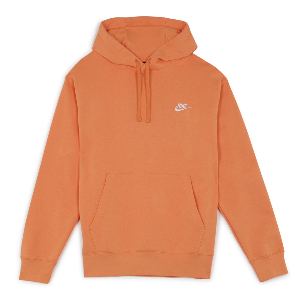 Nike Hoodie Club Small Logo Orange