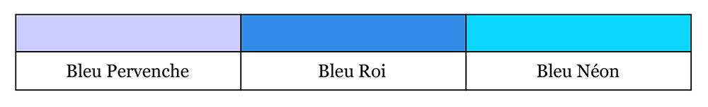 Quel bleu est le vôtre - Bleu 1