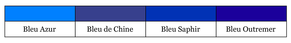 Quel bleu est le vôtre - Bleu 2