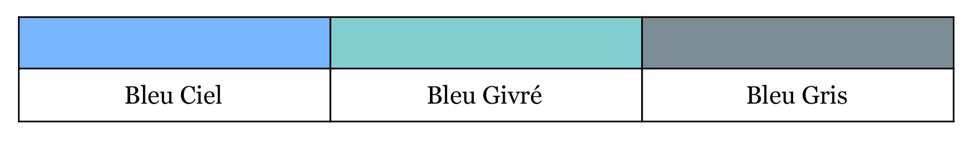 Quel bleu est le vôtre - Bleu 3