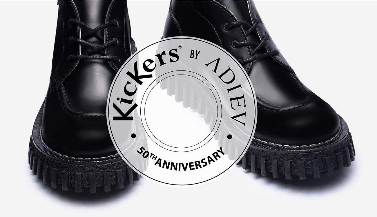 Kickers 50 ans x Adieu