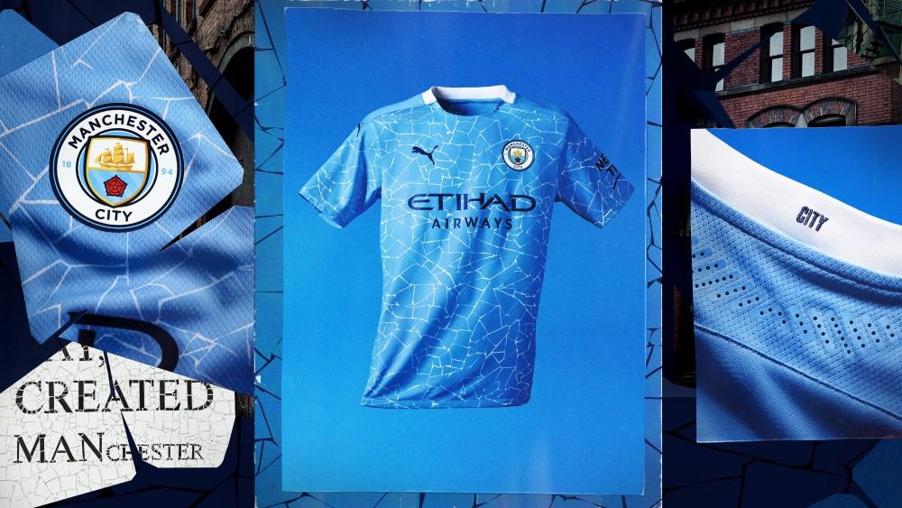 PUMA Football x Manchester City Maillot Domicile 2020-21