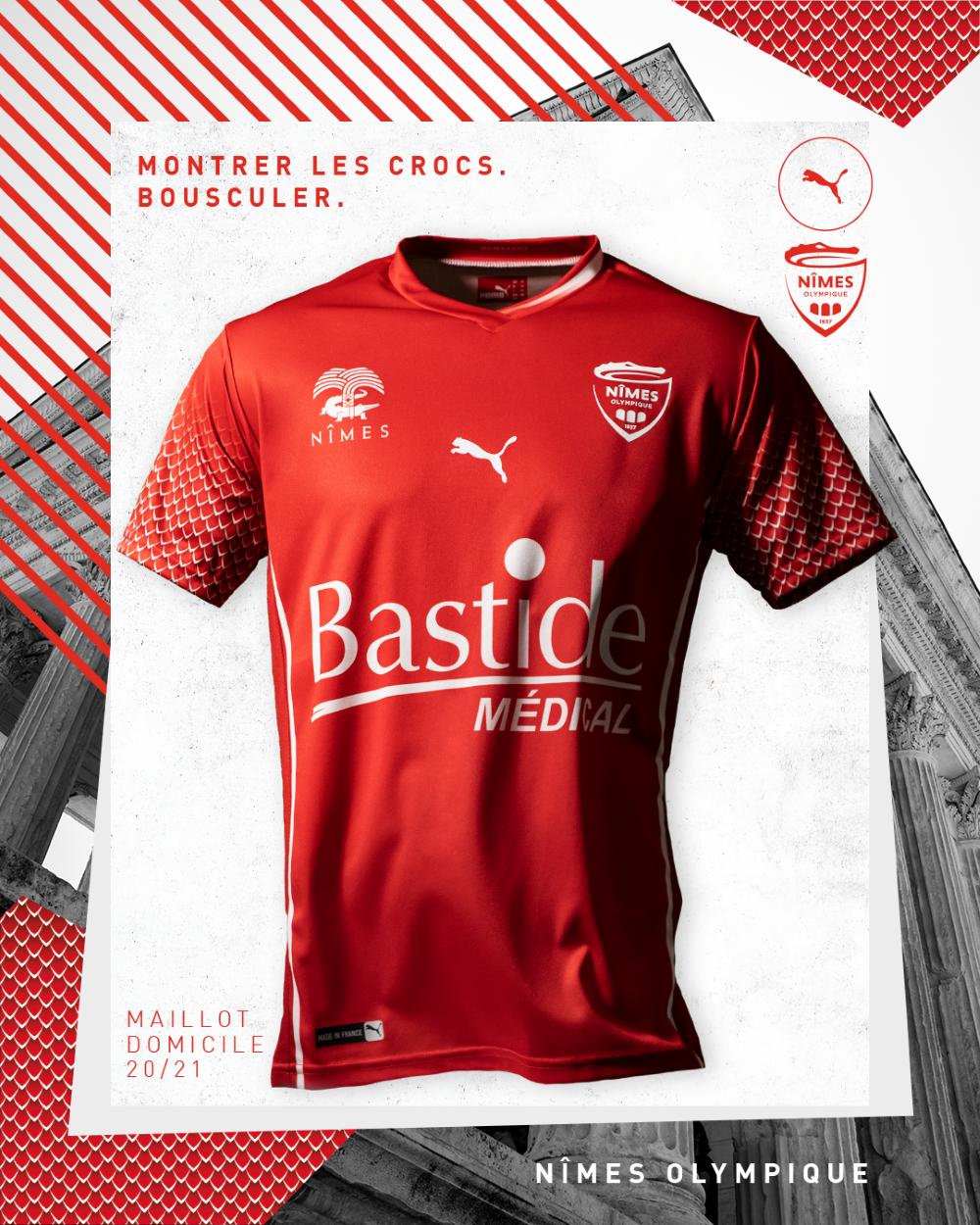 PUMA Football x Nîmes Olympique 2020-2021 - Maillot Domicile