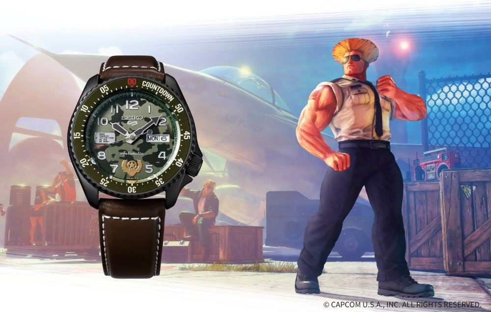Seiko 5 Sports x Street Fighter V - GUILE