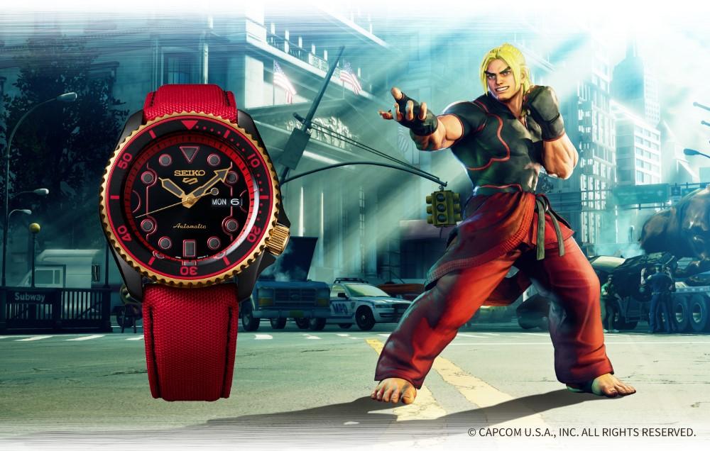 Seiko 5 Sports x Street Fighter V - KEN