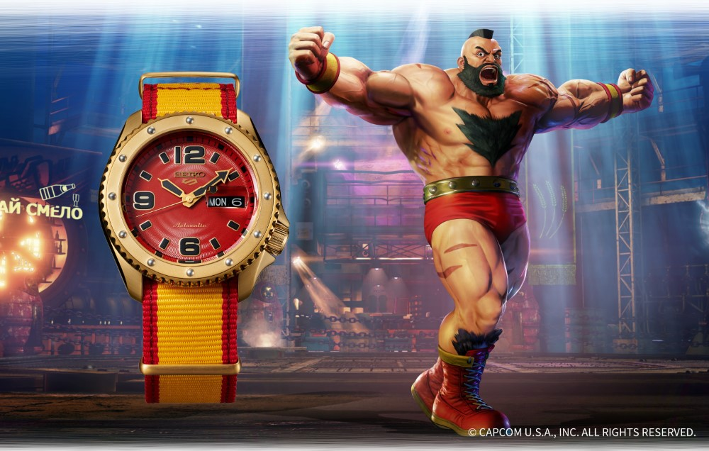 Seiko 5 Sports x Street Fighter V - ZANGIEF