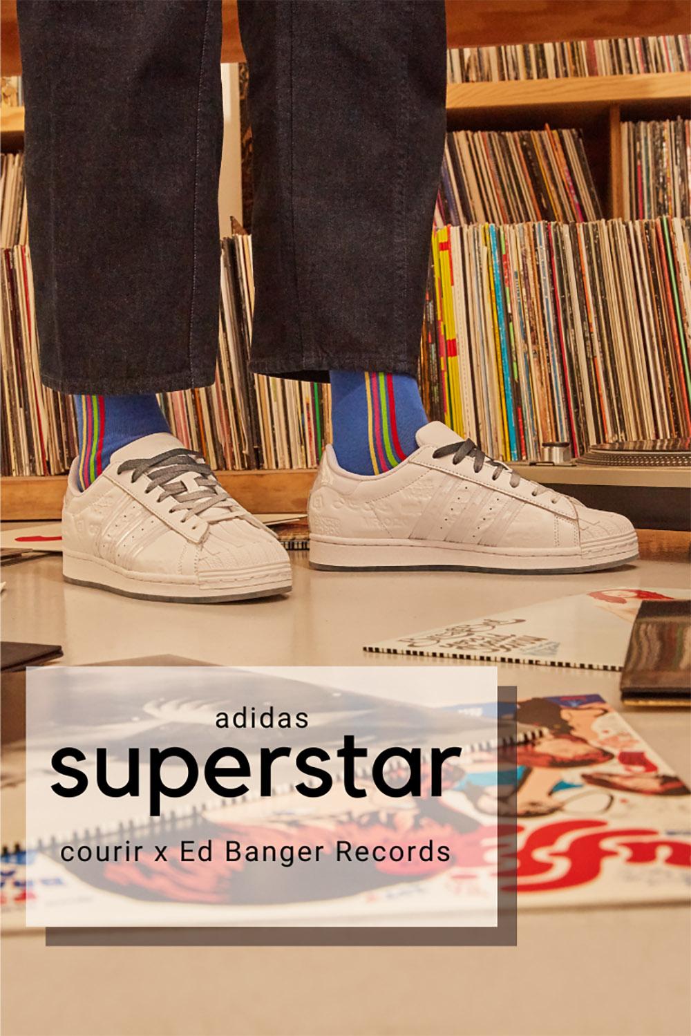 Courir 40 ans x Ed Banger Records x adidas Superstar