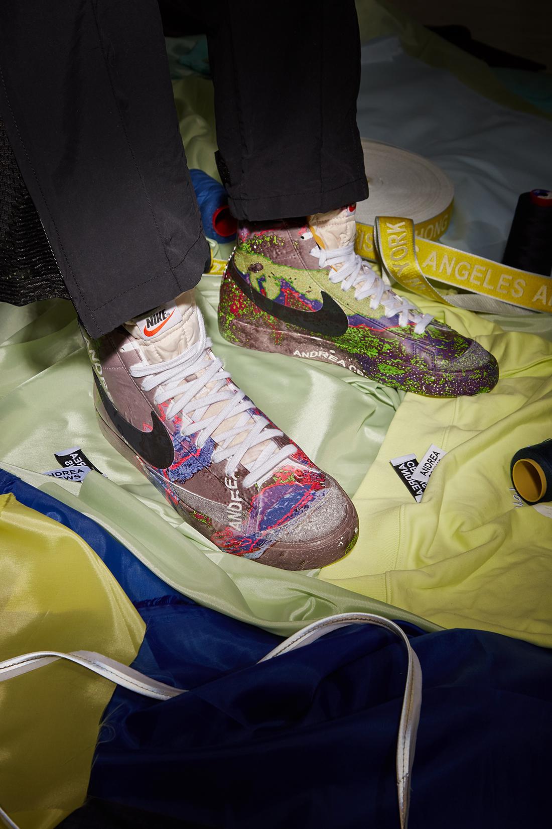 Courir 40 ans x Nike Blazer x Andrea Crews