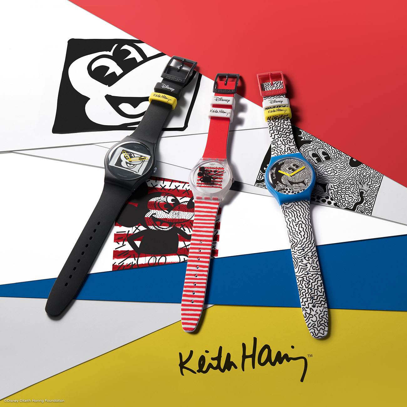 Swatch x Disney Mickey Mouse x Keith Haring