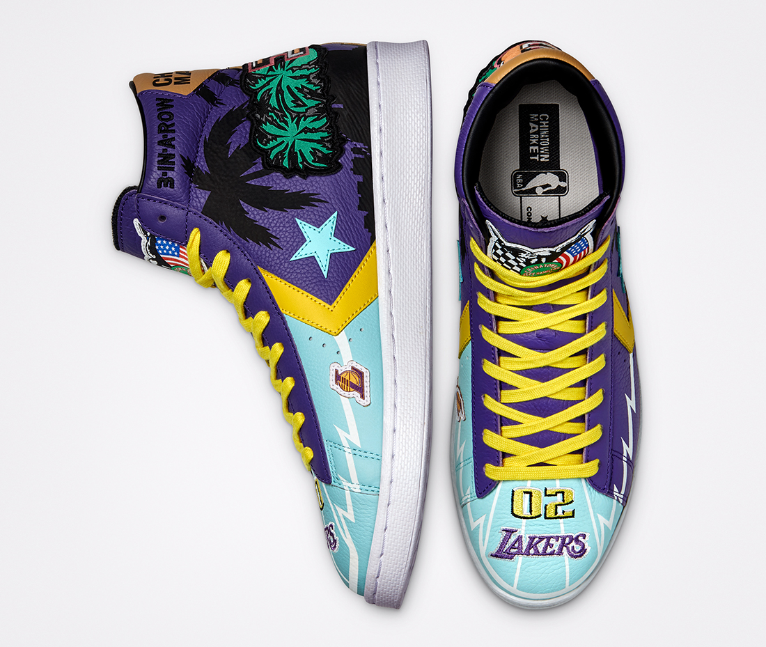 Chinatown Market x Converse Pro Leather x Los Angeles Lakers