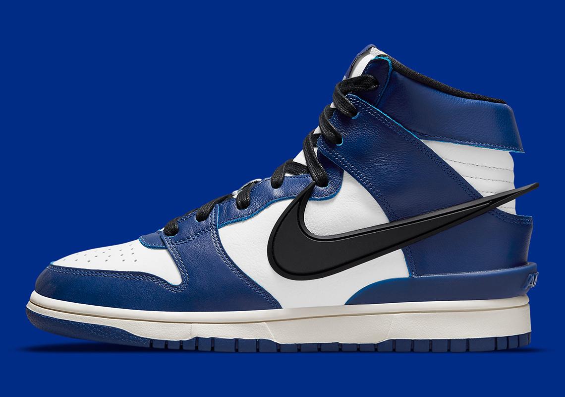 AMBUSH x Nike Dunk High Deep Royal Blue