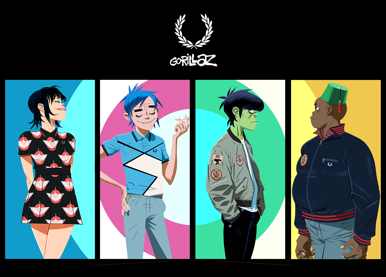 Fred Perry x Gorillaz Collection