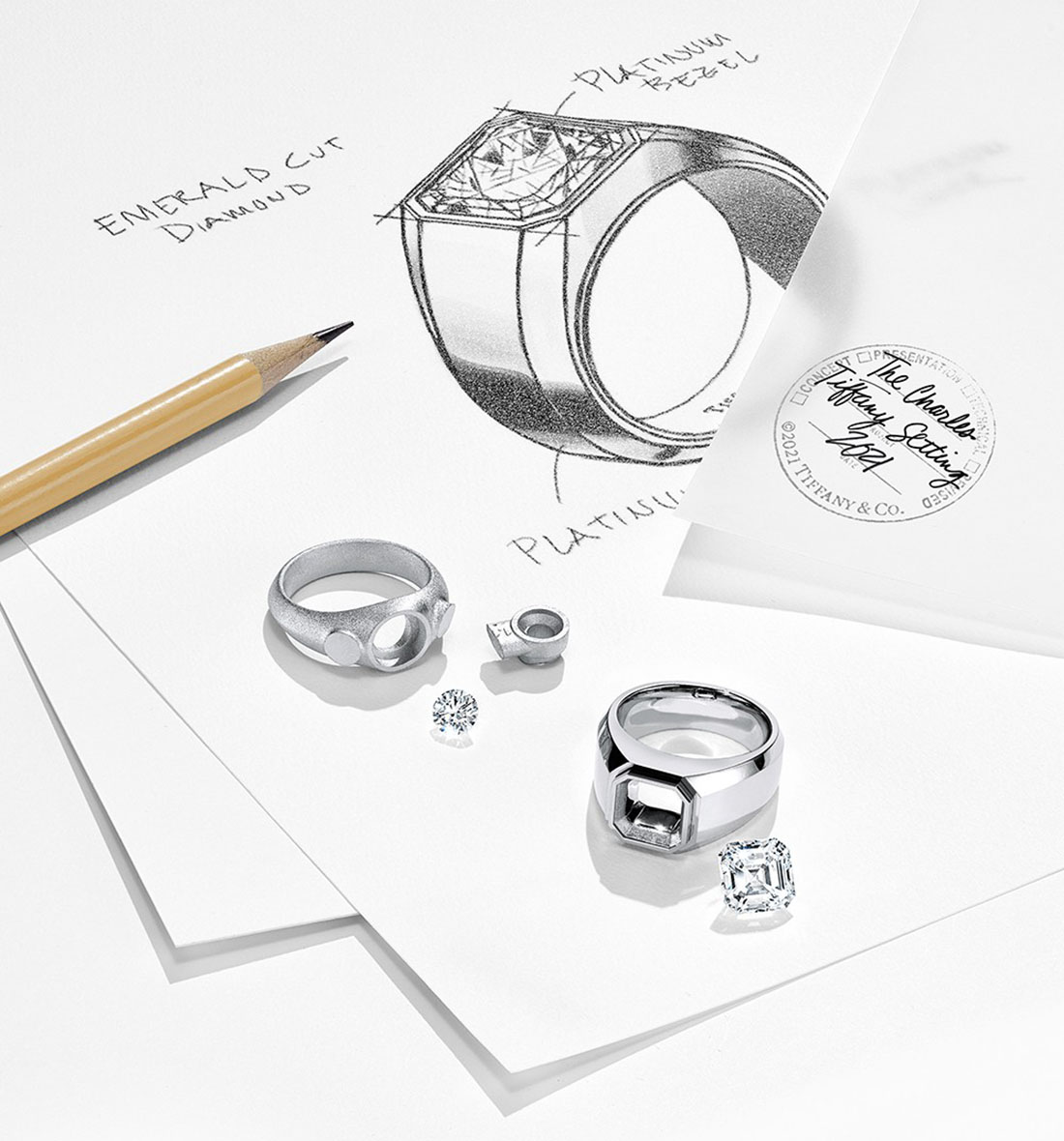 Tiffany & Co. - Collection Bagues Fiançailles Homme Charles Tiffany Setting