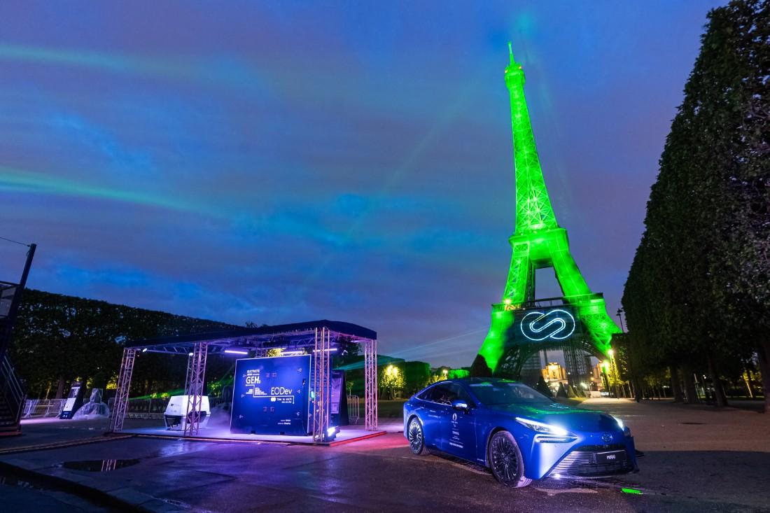 Tour Eiffel - Toyota Hydrogène Vert