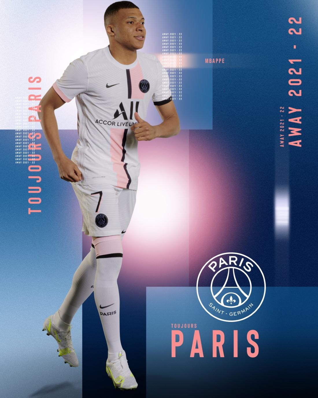 Paris Saint-Germain Maillot Extérieur 2021-22 - MBappé