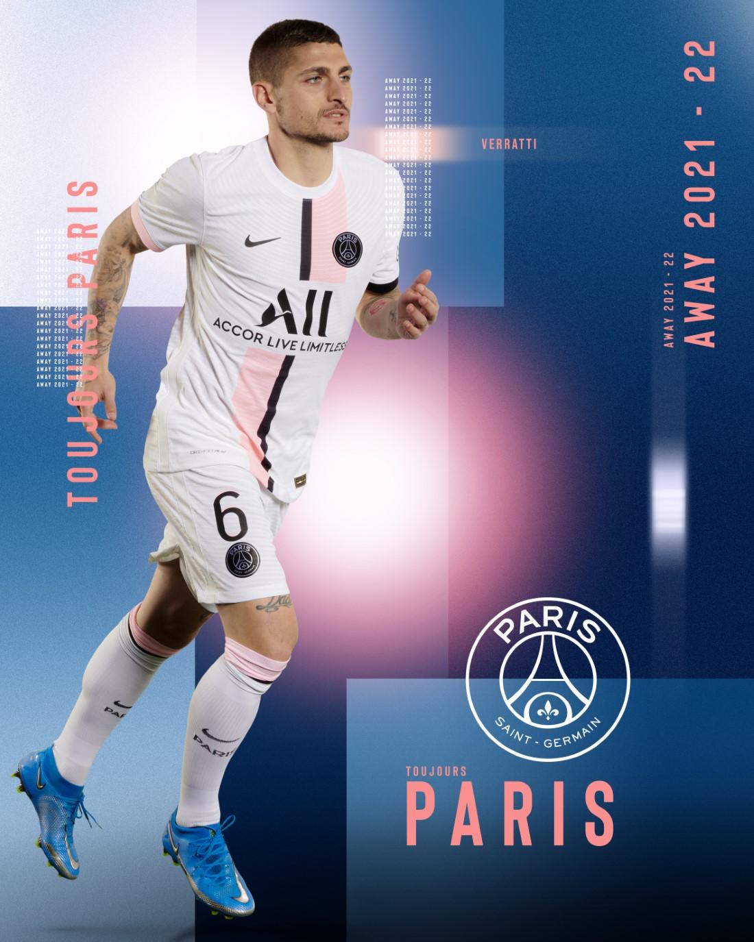 Paris Saint-Germain Maillot Extérieur 2021-22 - Verratti