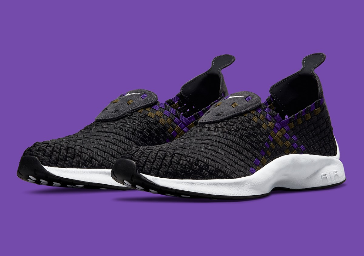 Nike Air Woven Olive & Purple